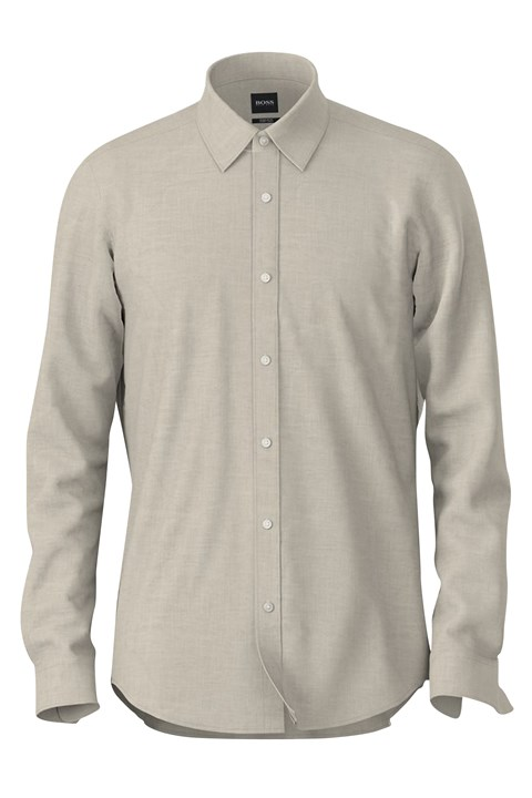 Lukas Regular Fit Linen Shirt - 102 natural