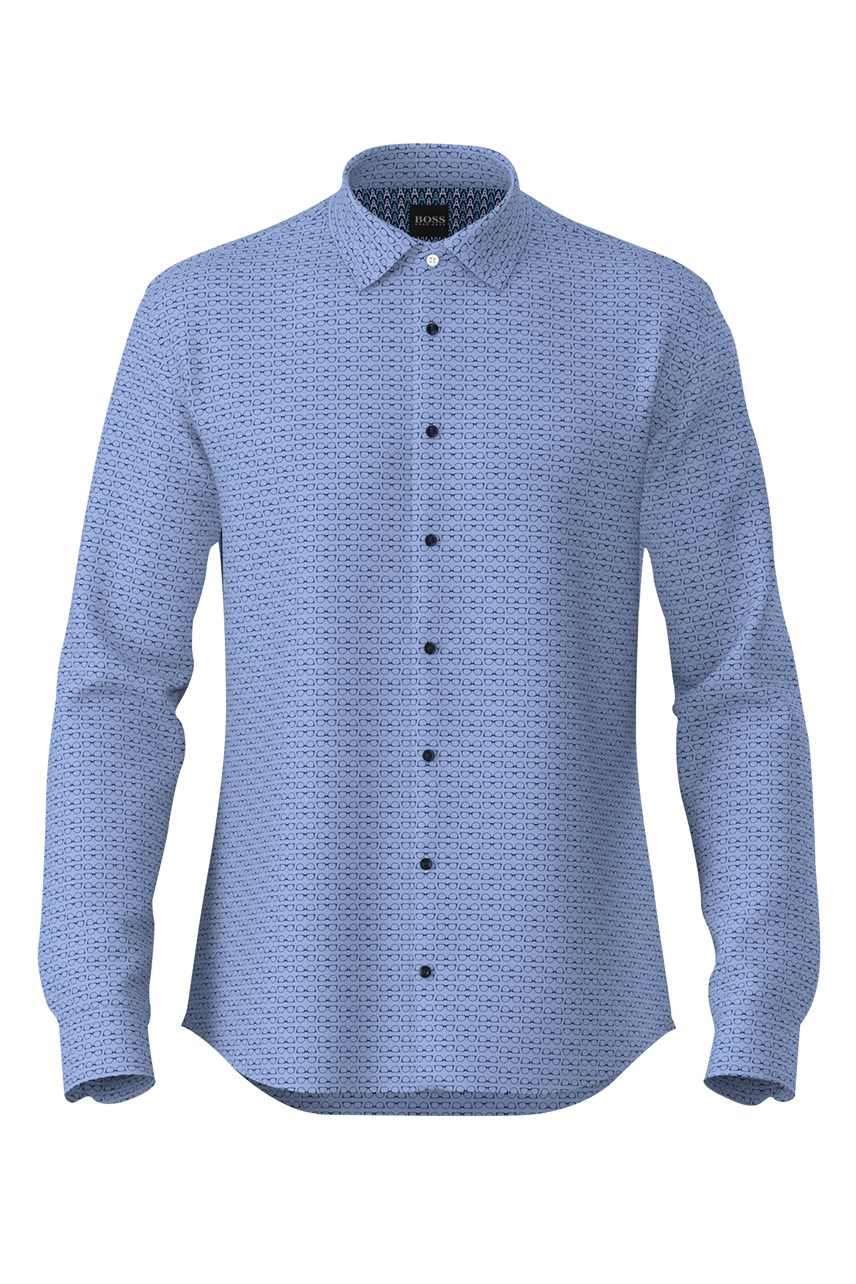 Mypop Slim Fit Patterned Shirt