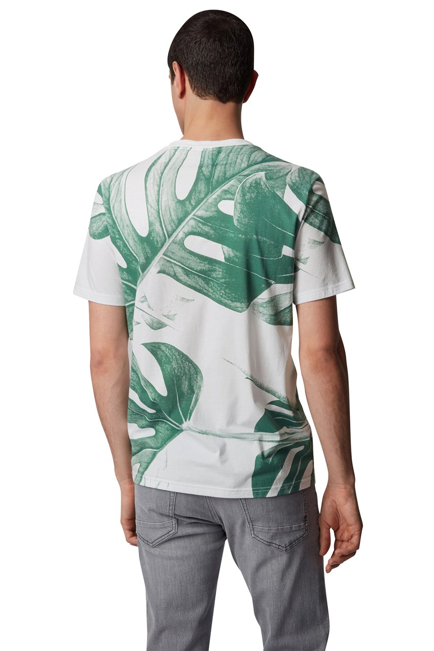 Tejungle 2 Leaf Print T-Shirt