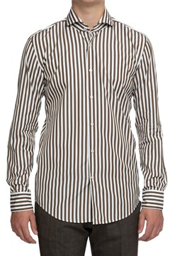 Jemerson Striped Shirt - 255 dark beige
