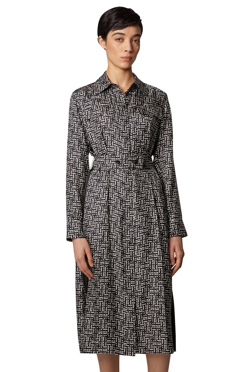 Daderena Monogram Print Shirt Dress