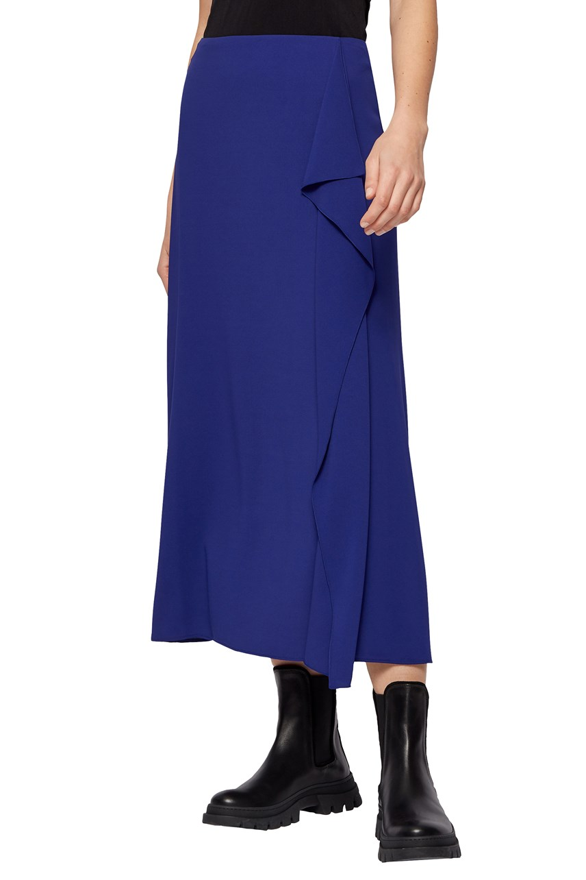 Valicara Midi Skirt With Volant Trim