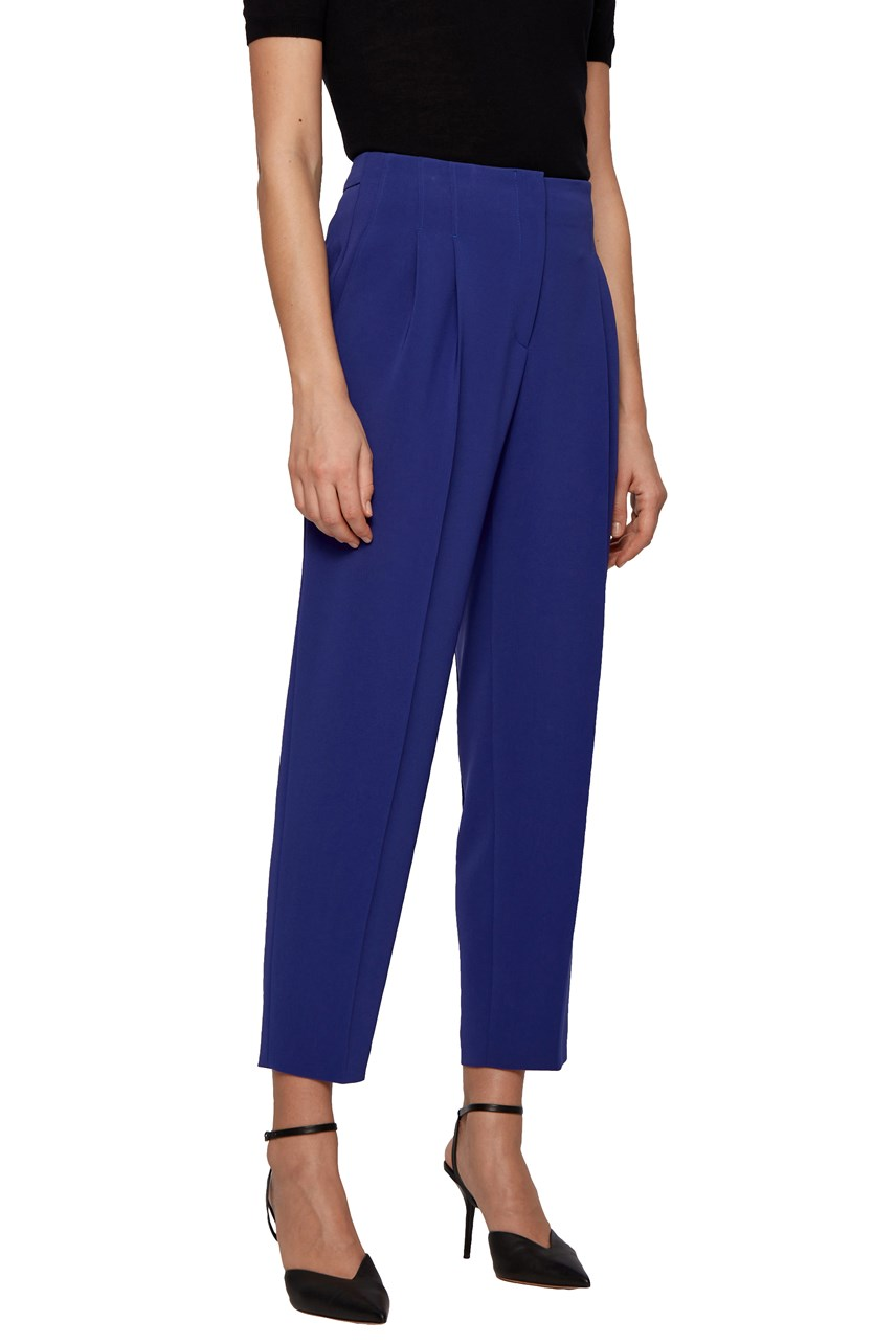 Tapia Cropped Pleat Front Trousers