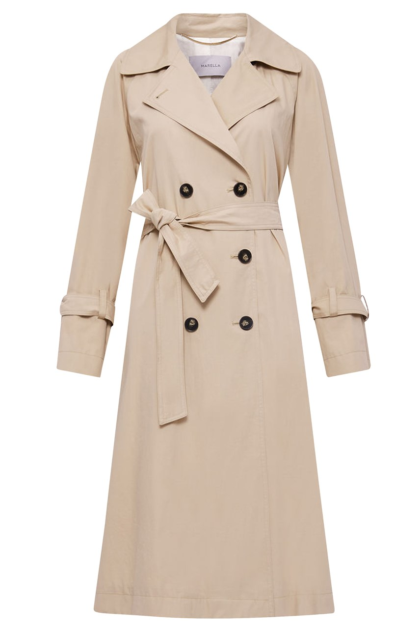 Rosatea Double-Breasted Trench Coat