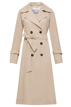 Rosatea Double-Breasted Trench Coat 001 NATURAL 1
