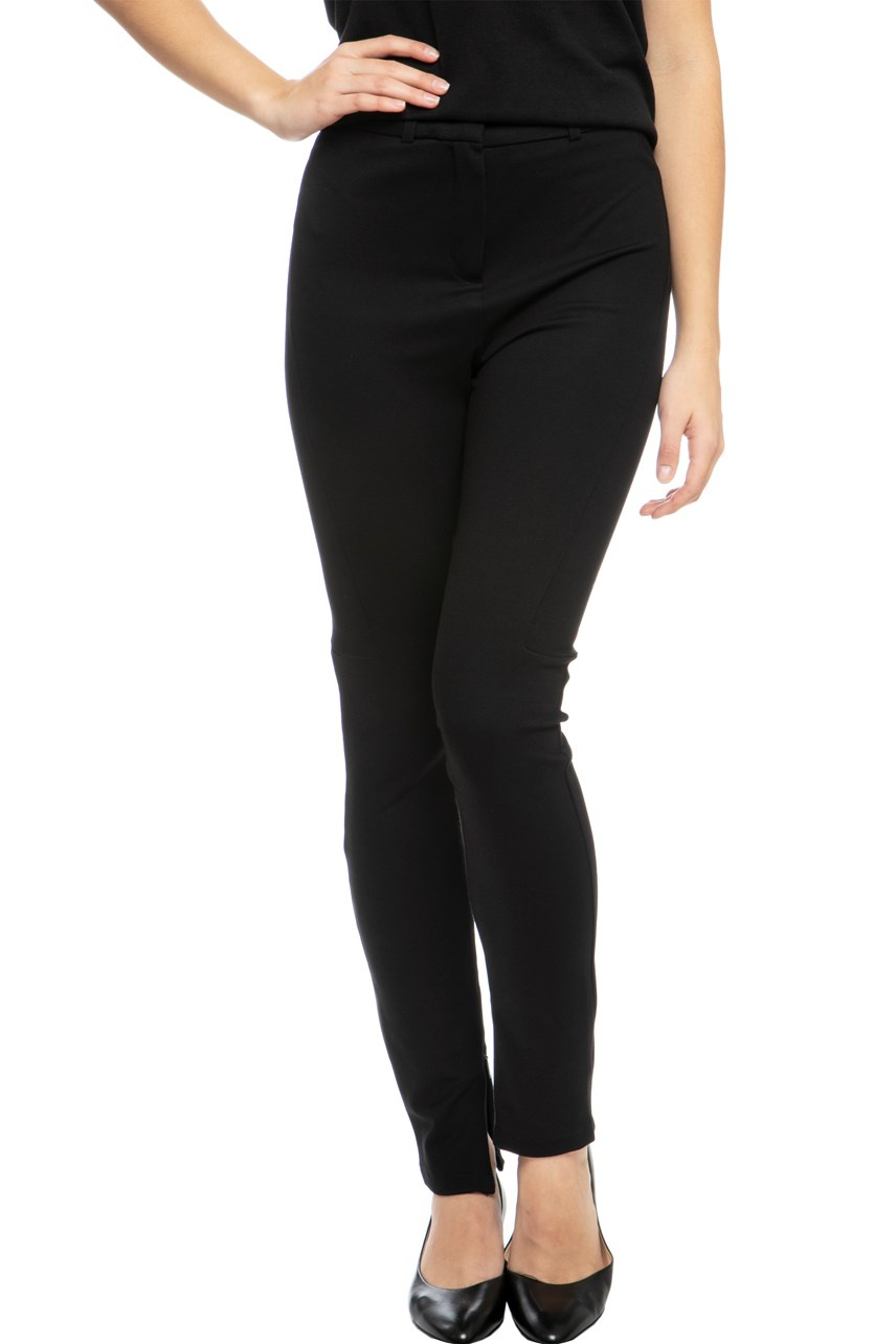 Ankle Zip Silk Knit Pant