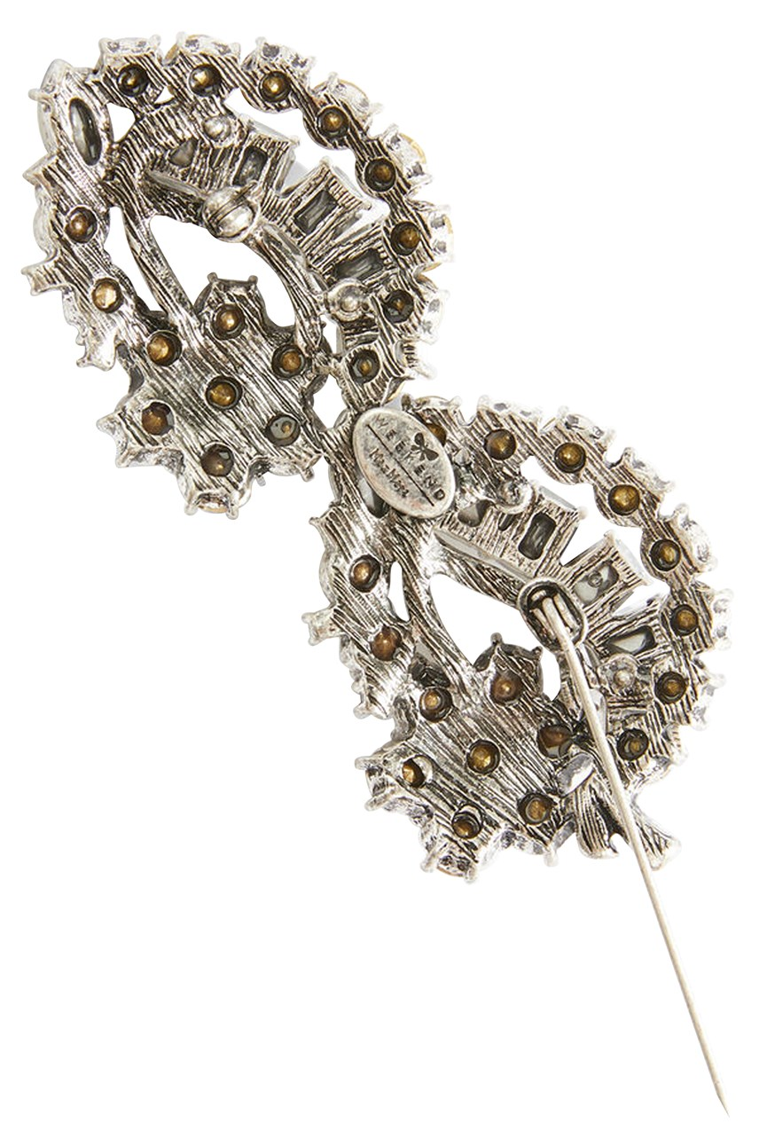 Flower Rhinestone Broach