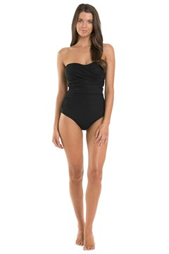 Contour D/DD Bandeau Swimsuit BLACK 1