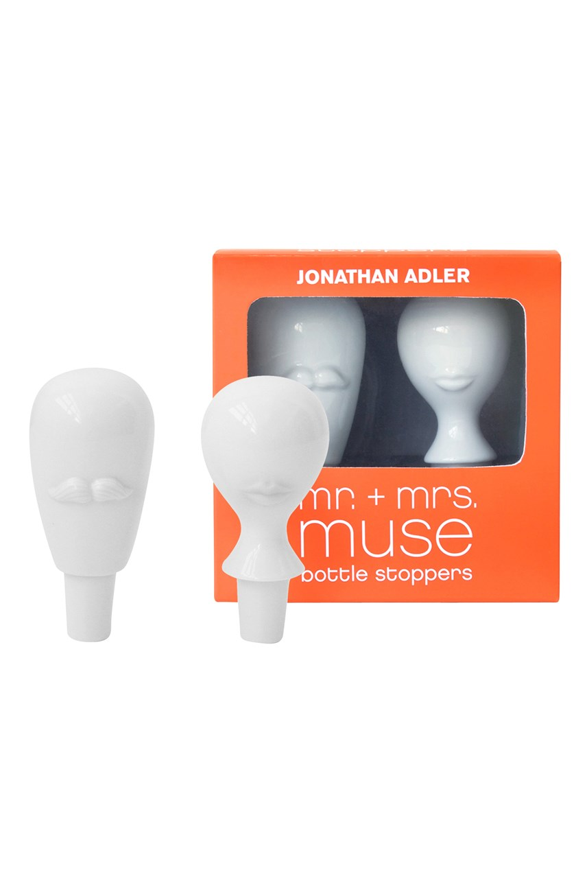 Mr & Mrs Muse Bottle Stopper Set