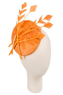 'Brandy' Fascinator ORANGE 1