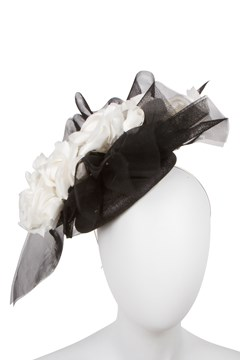 Fascinator BLACK WHITE 1