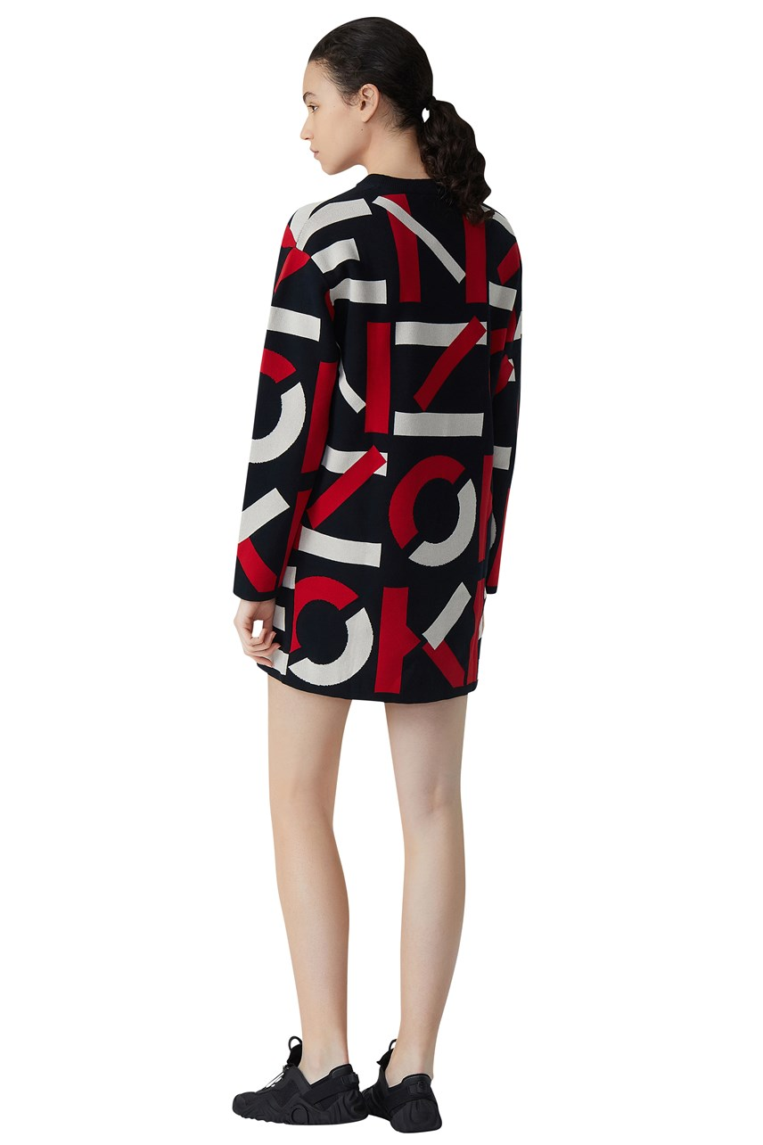 Kenzo Sport Jacquard Monogram Dress