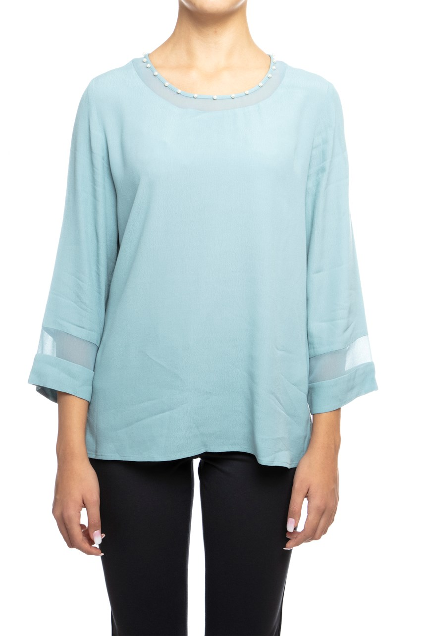 Sheer Insert Tunic Top