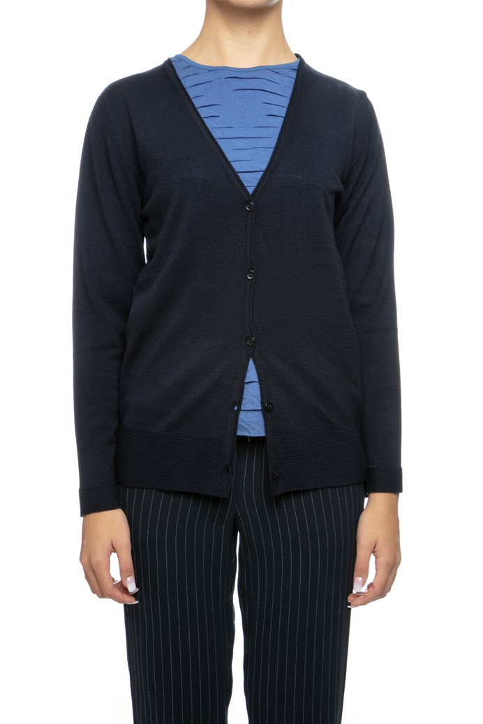 Ribbed Hem Knit Cardigan