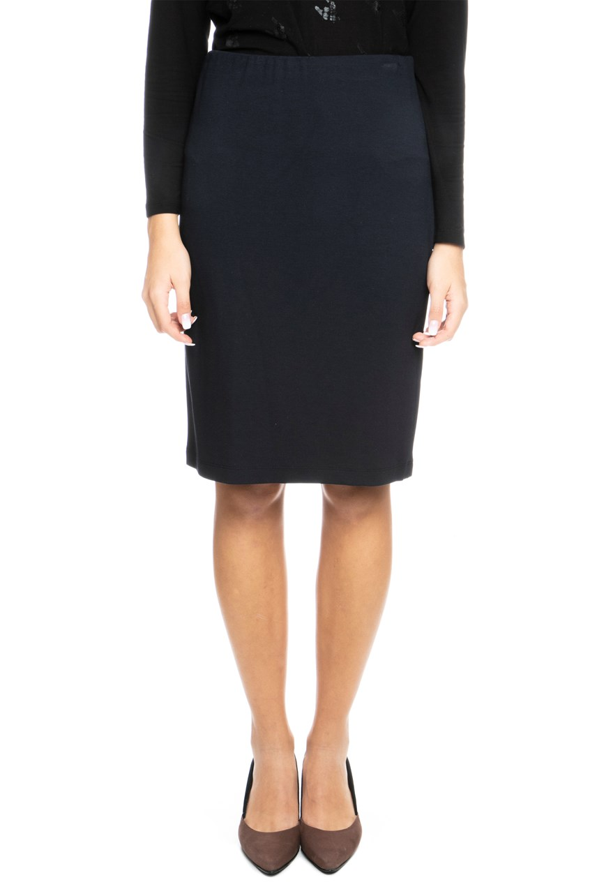 Plain Knit Pencil Skirt