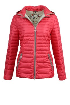 Quilted Down Jacket With Hood AZALEA 1