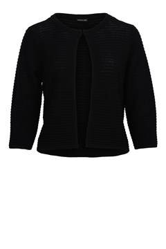 Ribbed Knit Jacket - black