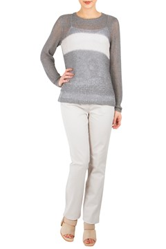 Sparkle Stripe Pullover GREY 1