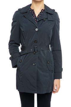 Hooded Trench Jacket NVY 1