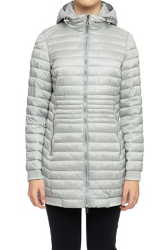Quilted Jacket With Hood GRY 1