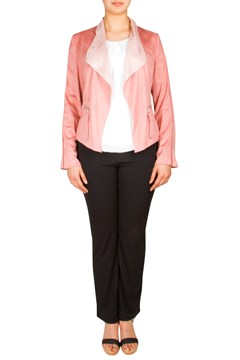 Suede Feel Waterfall Blazer PINK 1
