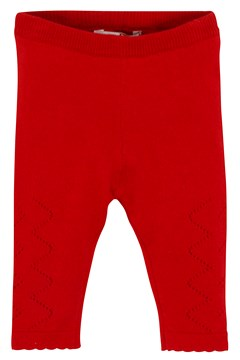 Folk Knit Pointelle Legging CHILLI 1