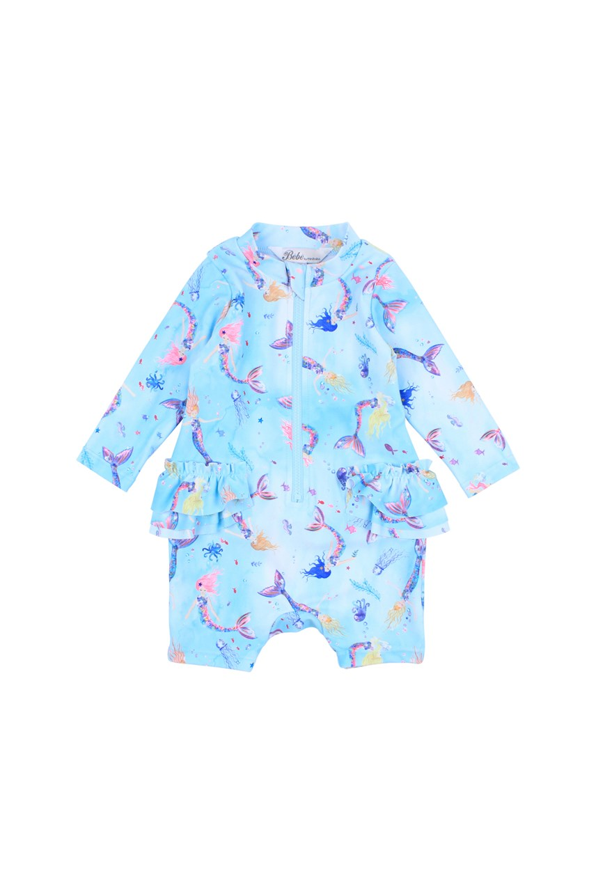Luna Zip Front Long Sleeve Sunsuit