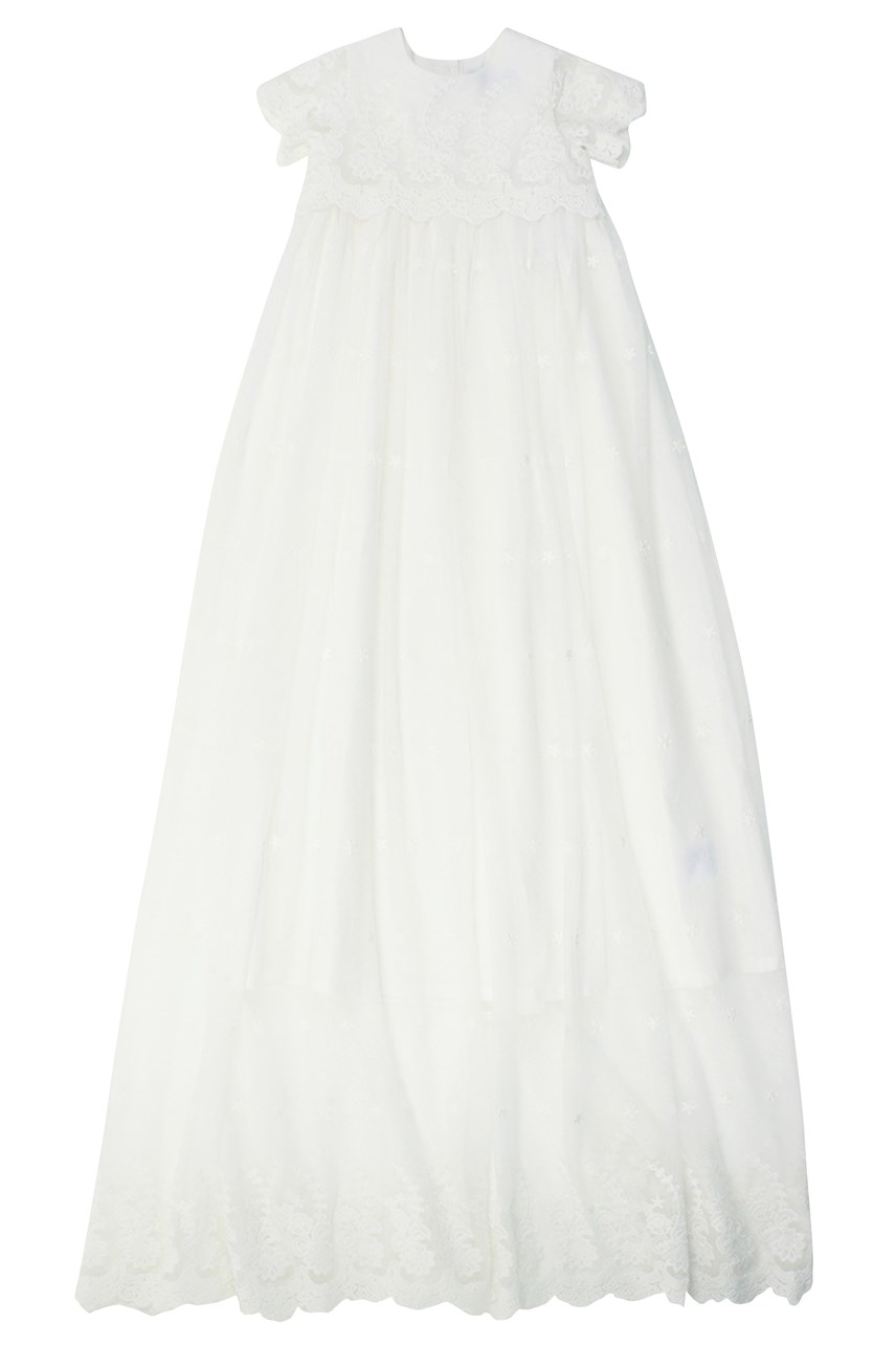 Lace Extra-Long Christening Gown