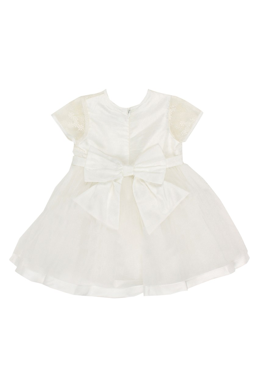 Organza Dress With Bow