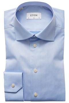 Slim Fit Twill Cut Away Shirt 21 SKY 1