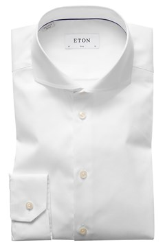Slim Fit Twill Extreme Cutaway Shirt 00 WHITE 1