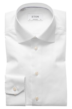 Contemporary Fit Twill Cut Away Shirt 00 WHITE 1