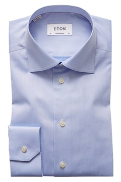 Contemporary Fit Twill Cut Away Shirt - 21 sky