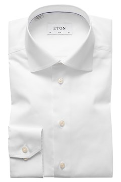 Slim Fit Twill Cut Away Shirt 00 WHITE 1