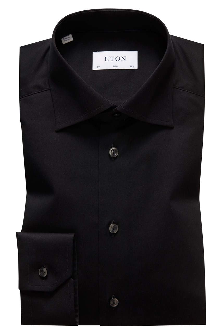 Slim Fit Twill Cut Away Shirt