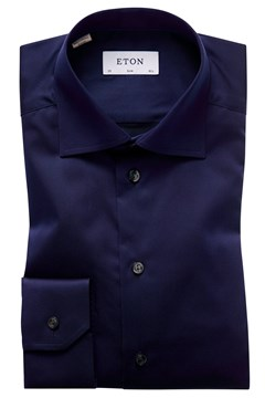 Slim Fit Twill Cut Away Shirt 29 NAVY 1