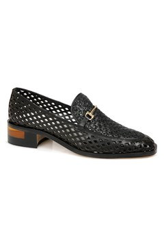 Roxbury Punched Leather Loafer BLACK 1