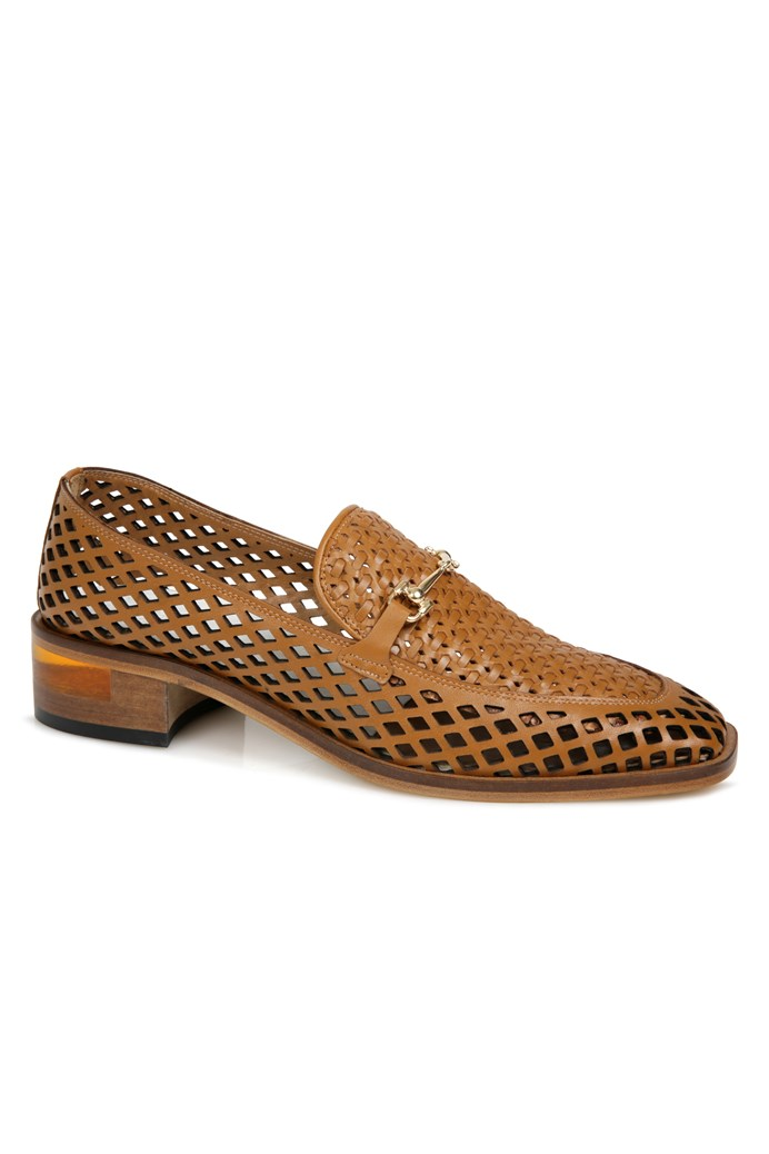 Roxbury Punched Leather Loafer