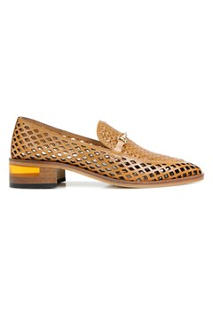 Roxbury Punched Leather Loafer - tan
