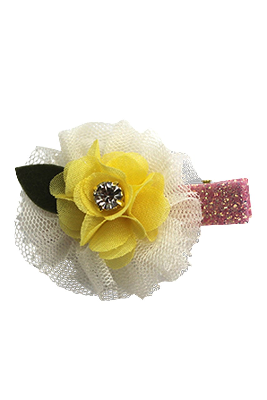 Mini Tulle Flower Duck Clip