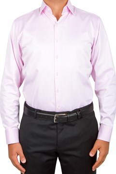 Plain Twill Business Shirt 665 PINK 1