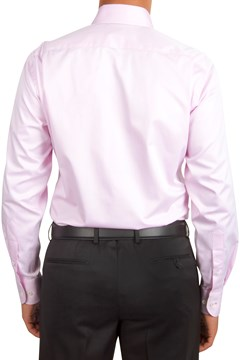 Plain Twill Business Shirt - 665 pink