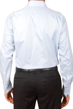 Plain Twill Business Shirt - sky