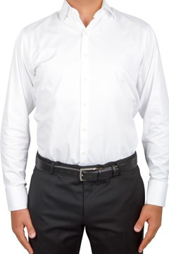 Plain Twill Business Shirt 100 WHITE 1