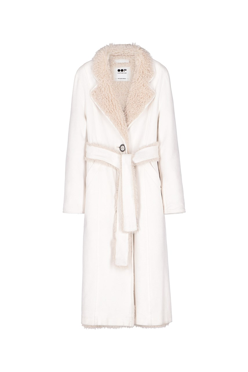 Reversible Long Sheepskin Coat
