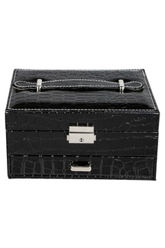 Croc Rectangle Jewellery Box BLACK 1