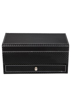 Textured Rectangle Jewellery Box BLACK 1