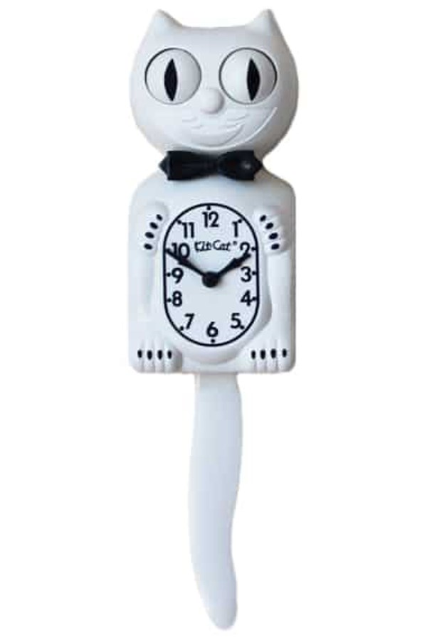 White Gentleman with Black Bow Clock