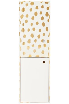 Note Holder With Pen GOLD DOTS 1