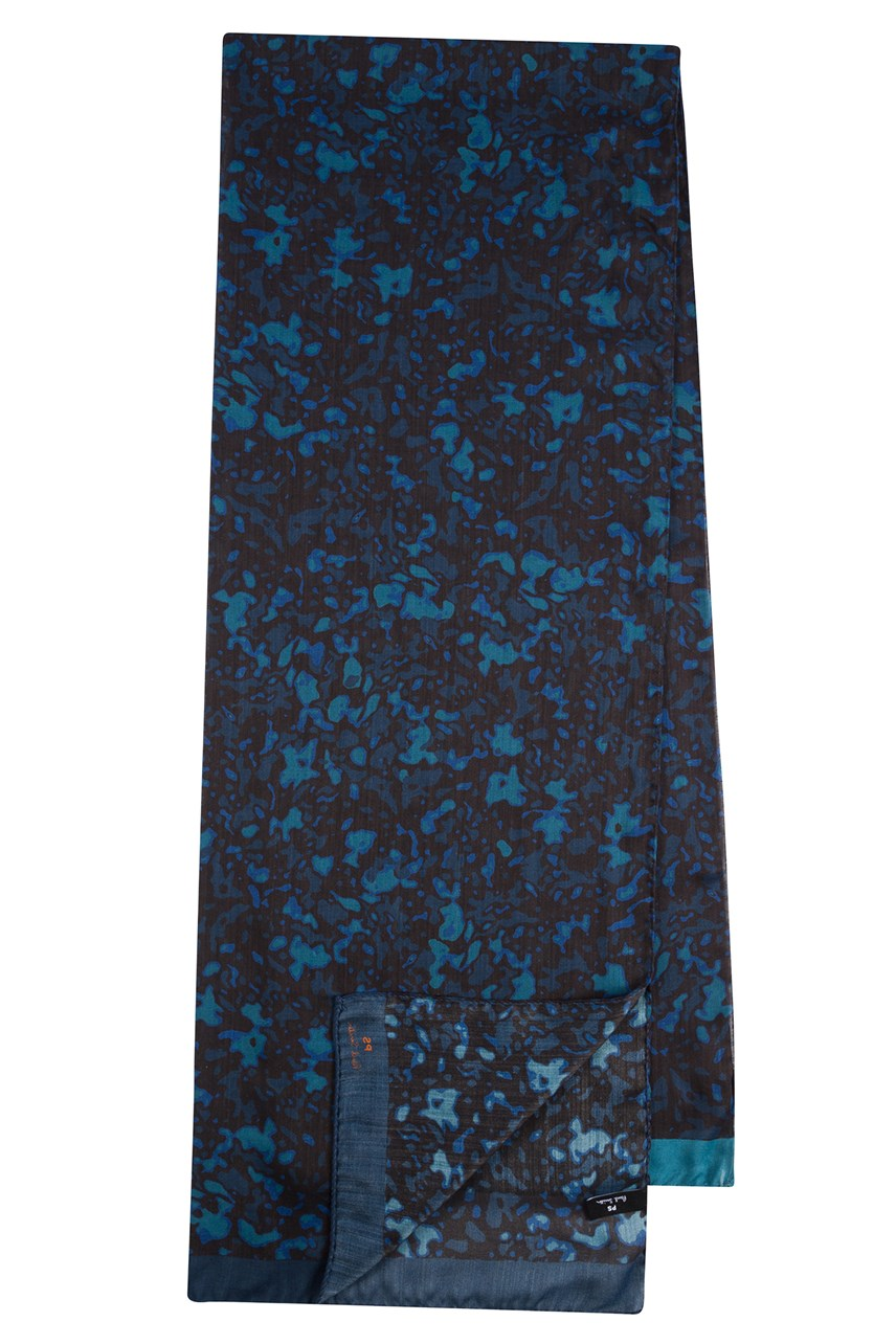 Wool And Silk-Blend Heat Map Print Scarf